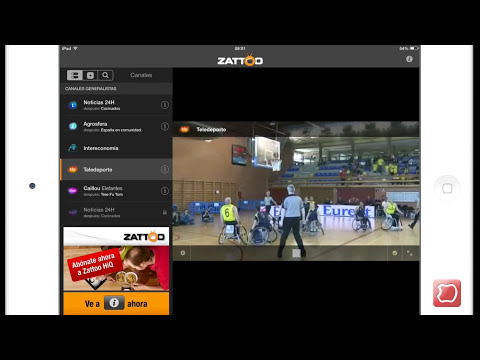 Zattoo Tv Gratis Online en iPhone iPad y iPod Touch