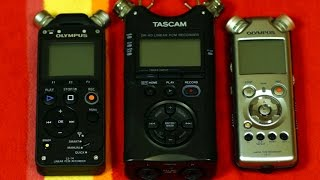 digital recorder comparison #3: Olympus LS11 vs LS14 vs TASCAM DR40 - forest