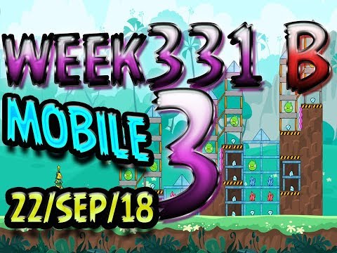 Angry Birds Friends Tournament Level 3 Week 331-B  MOBILE Highscore POWER-UP walkthrough
