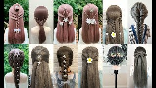 Top 20 Easy Hairstyles for Long Hair - Beautiful Hairstyles Compilation 2018