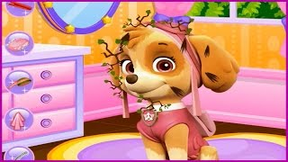 Enjoy with PAW Patrol Facial Spa Makeover Skye from Paw Patrol Game Video Cute Dogs Caring Games