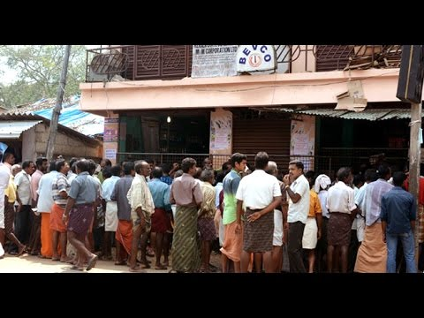 Beverages Queue in Kerala For buying alcohol