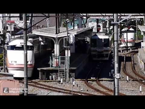 会津鉄道 8500系 AIZUマウントエクスプレス 鬼怒川温泉駅 到着~発車