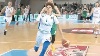 LaMelo Ball DOMINATES Grown Men in Lithuania Pro Debut with SICK No Look Pass