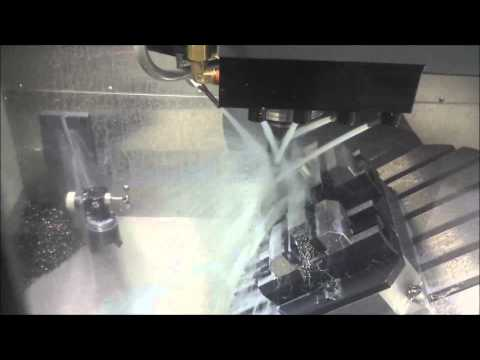 KMP Usinage : Full 5 axis milling on Haas Umc 750