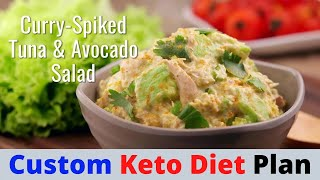 Keto Curry Spiked Tuna and Avocado Salad | Custom Keto Diet Plan
