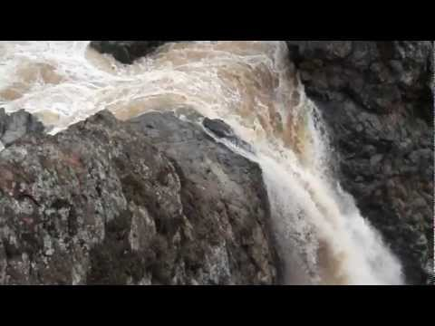Above Upper Fairy Falls at Flood Stage Video