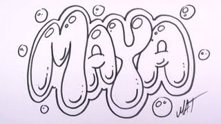 Graffiti Writing Maya Name Design #27 in 50 Names Promotion
