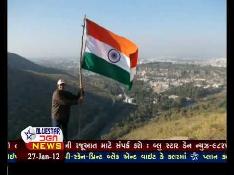 26 Jan  2012 Flag Hoisting on Mt  Girnar
