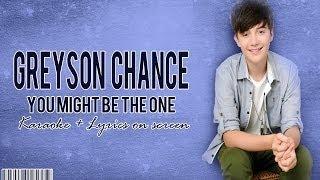 download lagu Greyson Chance - You Might Be The One Karaoke gratis