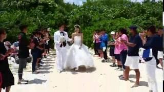 南の島の星祭りに登場するカップルにサプライズ