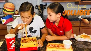 Our First Time | Jollibee | Kids Food Review