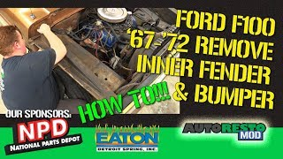 Bumpside F100 1967 1972 Inner fender and bumper removal Episode 374 Autorestomod