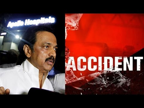MK Stalin escapes unhurt in a car accident | Oneindia News