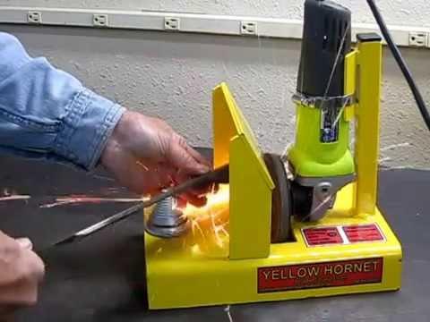 Yellow Hornet Mower Blade Sharpener Youtube