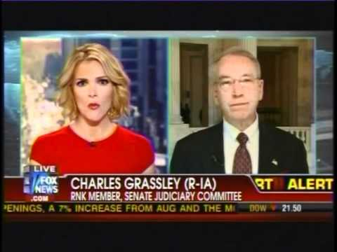 Grassley Discusses Holder's Testimony Regarding Fast and Furious on Fox News with Megyn Kelly