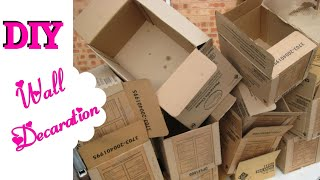 How To Resuse old cardboard For Wall Decoration | DIY | Cardboard Crafts | Home Decor | uppunutihome