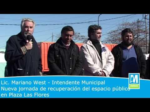 Plaza Las Flores -  Nueva jornada de recuperación del espacio público