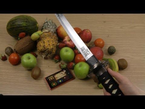 Lumia 920 Knife Fruit Ninja Gameplay
