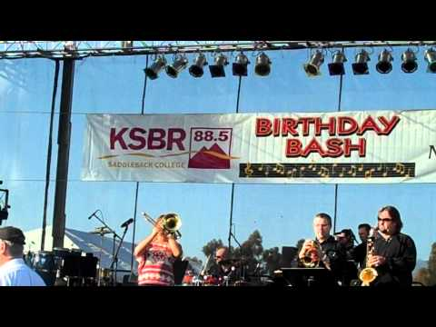 Aubrey Logan performs High place Live at the KSBR BASH with Chris Standring Mitch Forman