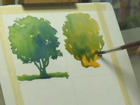 Watercolor Lessons - Tree Techniques 2, Frank M. Costantino