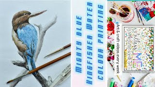 The blue bird | watercolour painting|easy to paint | time lapse video