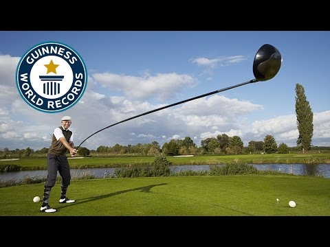 Longest 'usable' golf club - Guinness World Records 2015