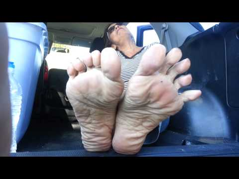 Smelly mature feet pov tease