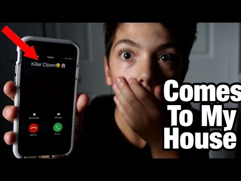PRANK CALLING A KILLER CLOWN GOES WRONG! *HE COMES TO MY HOUSE*