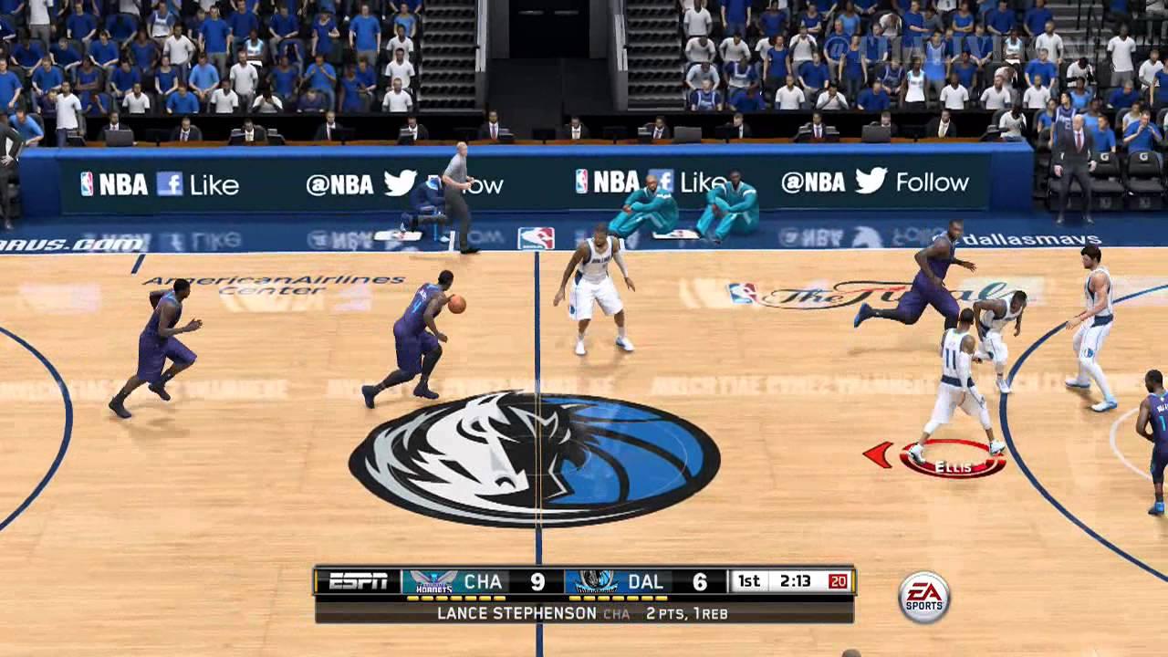NBA LIVE 15: Dallas Mavericks Vs Charlotte Hornets - YouTube