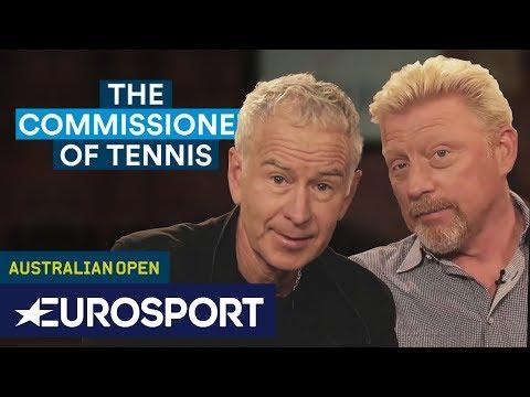 John McEnroe and Boris Becker on Social Media | The Commissioner of Tennis | Eurosport