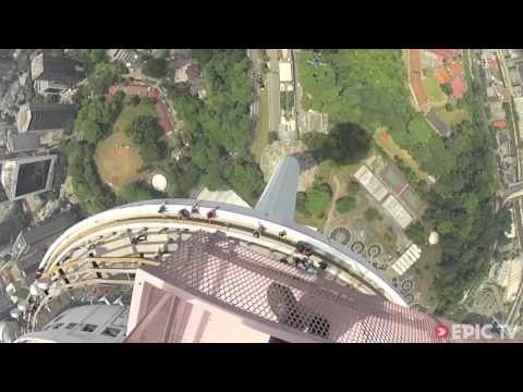 2870 jumps in 4 days @ KL Tower BASE Jump 2013