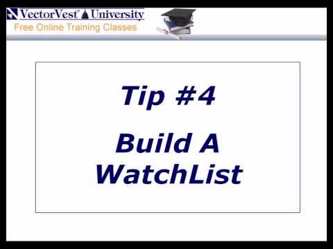 Stock Investing Tip #4 - Build A WatchList