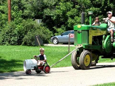 Pedal Tractor Kid Quot Pulls Quot John Deere 730 Youtube