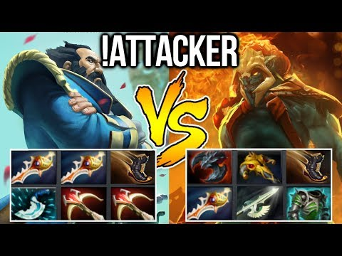 !Attacker Dota2 [Kunkka] Double Rapier vs Full Item Huskar