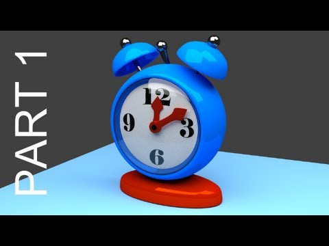 Blender Tutorial For Beginners: Alarm Clock - 1 of 2