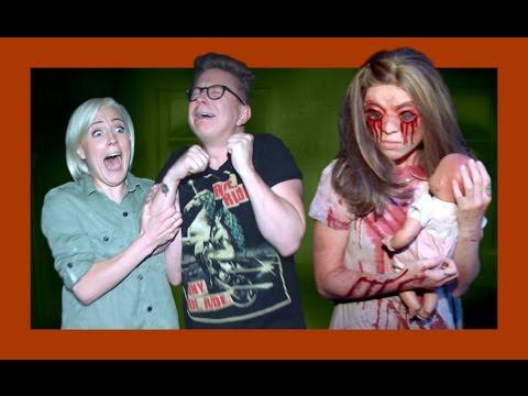 Haunted House Maze with Hannah Hart   The Tyler Oakley Show thumbnail