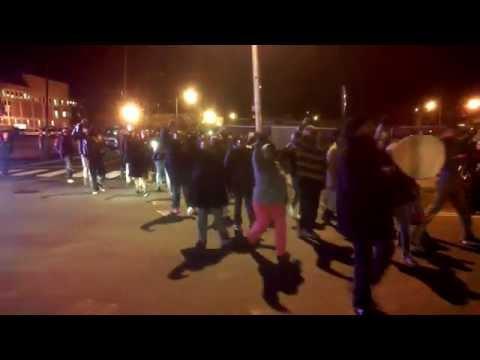 Marchers support firefighter facing discipline over Ferguson protest