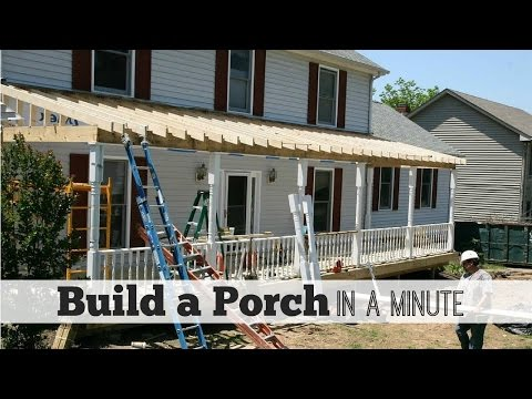Build A Porch In A Minute By Front Porch Ideas Youtube