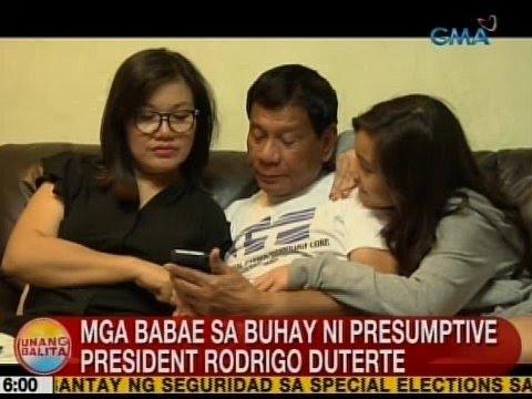 UB: Mga babae sa buhay ni presumptive President Rodrigo Duterte