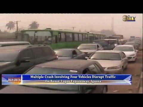 Multiple crash disrupt traffic on Benin-Lagos Expressway