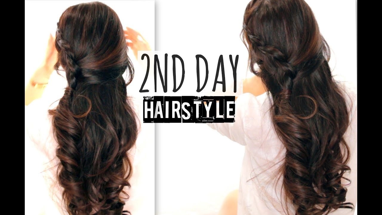 Cute Hairstyles For School With Curls : Cute nd day hair crossover braids hairstyles tutorial