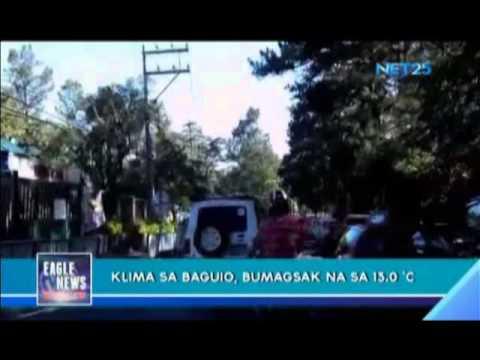 Baguio's climate reaches 13 degrees Celsius