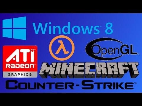 Windows 8 OpenGL ATI AMD Problem Замена драйвера Виндовс 8 для поддержки OpenGL , Minecraft , CS 1.6