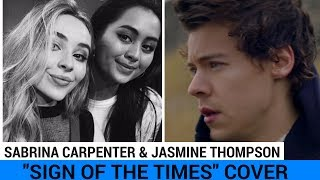 "Sabrina Carpenter & Jasmine Thompson Drop Cover of ""Sign Of The Times"""