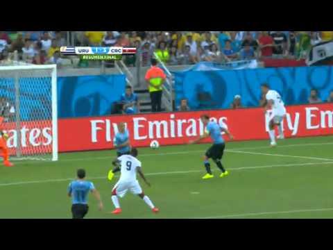 Brasil 2014 - Costa Rica 3-1 Uruguay Televisa Deportes