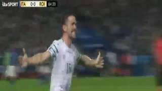 Robbie Brady GOAL - Italy vs Ireland 0-1 EURO 2016
