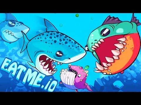 Eatme.io New iO Game Agar.io With Monster Fish War!
