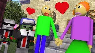 Monster School : BALDI'S LOVE STORY - Minecraft Animation