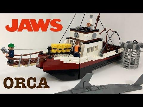 LEGO Jaws Orca Minifigure-Scale Model (Custom Build!)